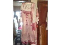 Brand new Dubai style Nour silk dress suit 3 pieces wedding dress size M/12 new £20