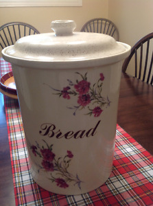Staffordshire earthenware bread container