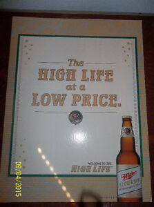 Miller High Life generic beer sign Windsor Region Ontario image 1