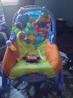 Fisher price rocker and high chair