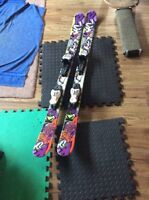 K2 freestyle twintip skis 125 inches