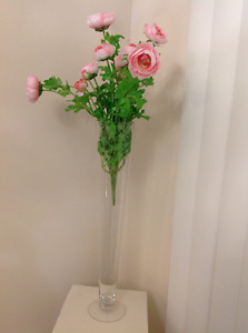 Beautiful Vase With pink flower HIGHT 40 cm