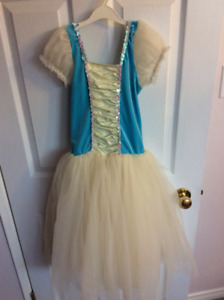 Blue/White Dance outfit: Size Child Medium