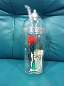 BEAUTY AND THE BEAST ENCHANTED ROSE CUP/TUMBLER RARE