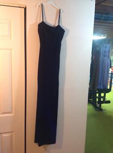 Ladies Black velvet dress