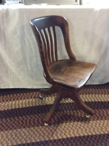 Antique bankers desk chair