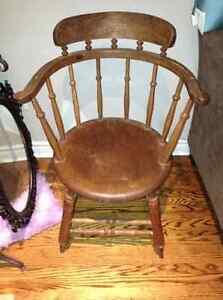 Antique plank seat captain's chair for sale