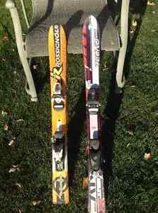 Kids skis and ski boots