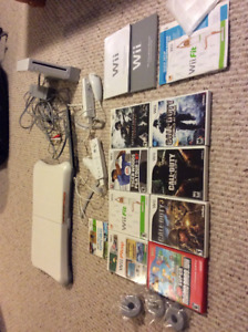 Nintendo Wii Games Lot - 9 games and the Wii Fit Board!