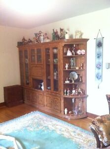 4 piece oak wall unit