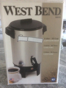 Westend automatic 30 cups coffee maker $70.00