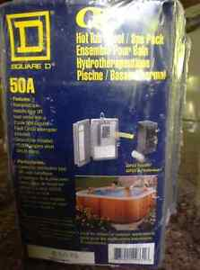 Square d 50 amp Hot tub/ PoOl/ SPA Pack GFCI included new