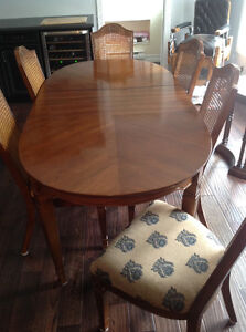 Oak Dining Set with Buffet and Hutch