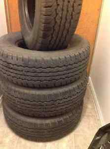 4 used 245 75 r16 Goodyear Tires HT all season 10 ply load E