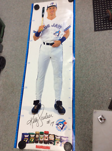 Kelly Gruber Toronto Blue Jays life size 6' growth poster