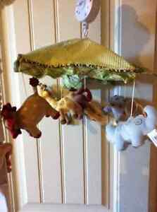 Crib Mobile - Zoo theme, Neutral Color (by Lambs & Ivy)