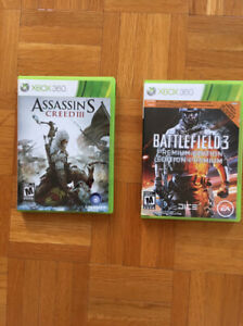 Jeux XBOX 360: Assassin'S Creed III et BattleField3