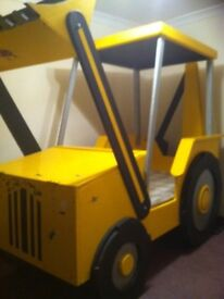 Digger bed, full size single.