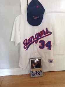 Retro Nolan Ryan Texas Rangers Jersey, Hat & Autobiography