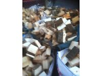 Bulk bags of mixed hardwood logs
