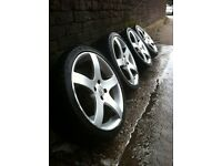 """Tsr 17""""alloy wheels 4x100 pcd £120 all used but in good condition few minor marks"""
