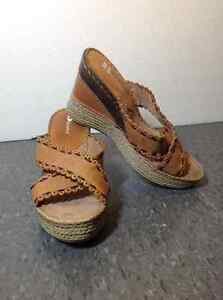NEW Browns Brand leather wedge sandals