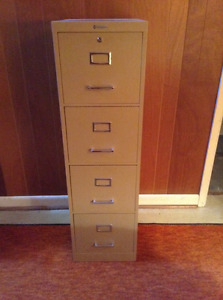 Steel 4 Drawer Filing Cabinet
