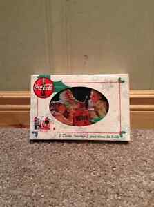 Coca Cola Christmas playing cards in tin with original box