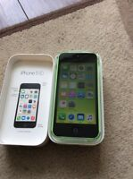 Green iPhone 5c 8gig is unlocked so it works with any carrier