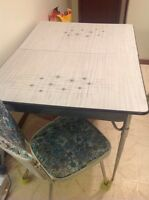 Table, chain, shower curtain..