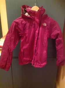 The North Face girl's rain jacket shell windproof
