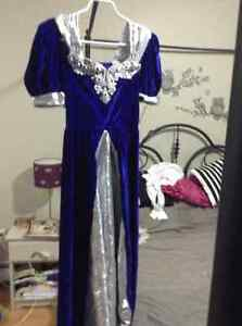 PRINCESSS DRESS HALLOWEEN COSTUME AND FAIRY WINGS( never used)