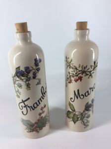 Highly Collectible Vintage French  Wine Stoneware Bottles