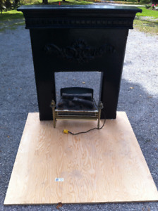 Plug In Electric Fireplace with Decorative Vintage Mantle
