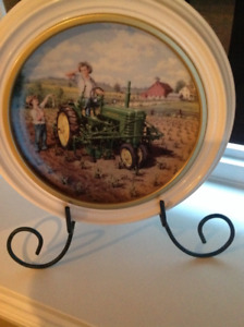 John Deere collector plate with stand