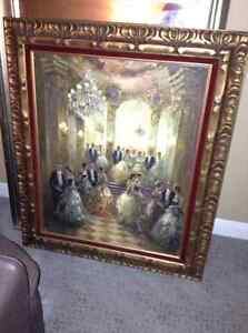 Genuine oil painting in fabulous frame for sale