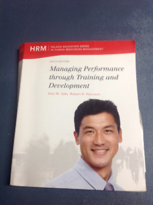 Textbook for ADM 4815 Training and Development