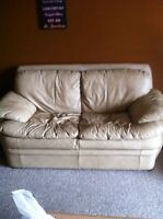Leather couch best offer