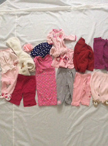 Assorted baby outfits size 3 months
