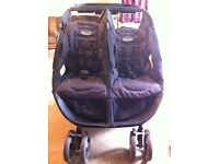 Graco double pushchair buggy click & Connect