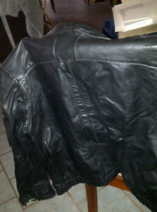 MOTORCYLE JACKET BLACK LEATHER
