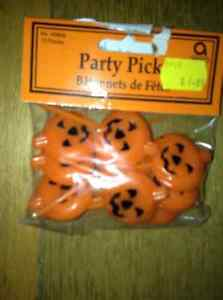 NEW PUMPKIN PARTY PICKS IN PACKAGE
