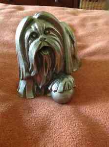 PEWTER FIGURINE GOOD FORTUNE SHIH TZU