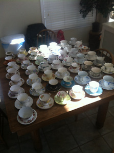 50 Tea Cups various makers all together