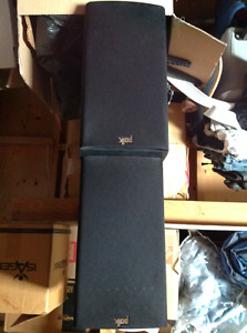 Polk audio bookshelf speakers, soundstage sub, demon amp