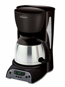 Sunbeam 8 -Cup Programmable Coffee Maker-Thermal, Black