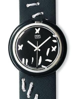Midi Pop Swatch Black Widow PMW100 Neu Selten