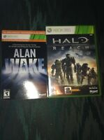 Selling Alan wake and halo reach for xbox 360