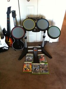 Drums, guitars, and games