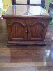 Solid Wood Square End Table or TV stand